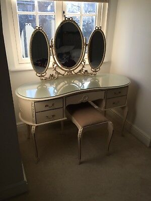 Original Olympus French Louis Style Vintage Kidney Shaped Dressing Table