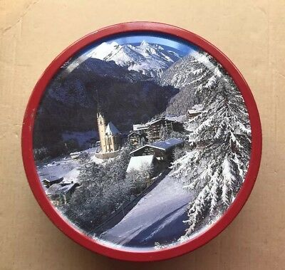 Vintage Danish Butter Cookies Holiday/Christmas Pattern Metal TinEmpty Box