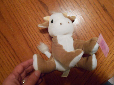 PRECIOUS MOMENTS Tender Tales COW Plush with Adoption Tag