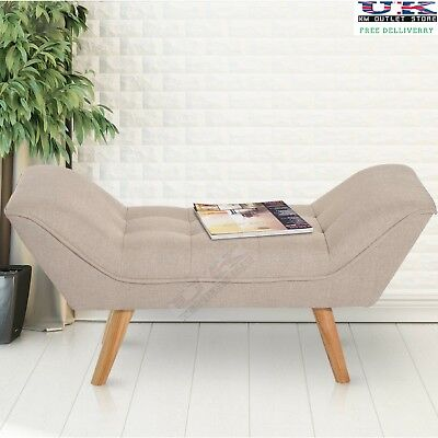 Chaise Lounge Style Bed End Storage Sofa Window Seat Bench