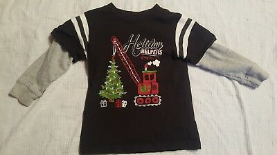 Boys Shirt Size 4T Holiday Helpers Christmas shirt, good used condition