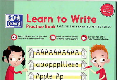 Oxford Learn to Write Book Practice Book Key Stage1 For Kids Writing Rule System