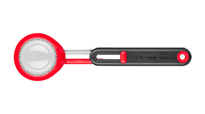 Dreamfarm Levoop Adjustable Leveling Scoop - Great for ground coffee - Red
