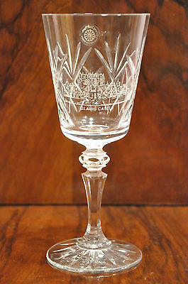 One Galway Oranmore Lead Crystal Cut Glass Wine Goblet Glamis Castle Design