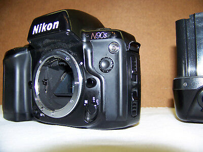 NIKON N90S BODY with MF-26 Data back + MB-10 GRIP Nice!