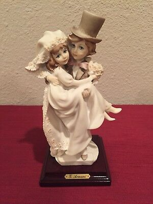 Guiseppe Armani Florence Figurine Porcelain Bride And Groom Circa 1986