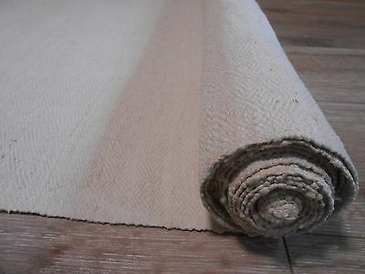 Antique Hutsul Homespun Heavy Hemp&Cotton mix Soft Fabric 1930s 0,63x3m