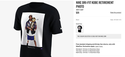 promo code ca98d 847b8 Nike Kobe Bryant Trophy Photo T-Shirt GOAT Supreme SOLD OUT Black Mamba ASG  KB24