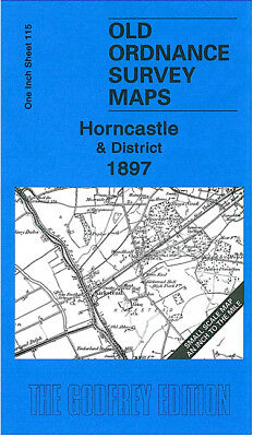 Old Ordnance Survey Map Horncastle 1897 Woodhall Spa Billinghay Spilsby Walcot