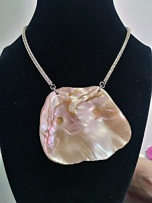 "Stunning Vintage Estate Shell Stone Abalone Beaded 18"" Necklace!!!"