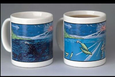 Wondermugs Dolphins/Whales Heat Activated Picture Changing Coffee Java Mug Cup