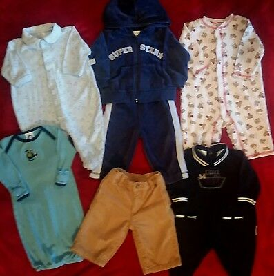 Baby boys clothes 3-6 months lot jumpers soft velour suite ~ Great Condition