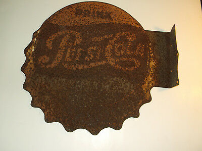 rare antique double sided metal pepsi cola sign general store