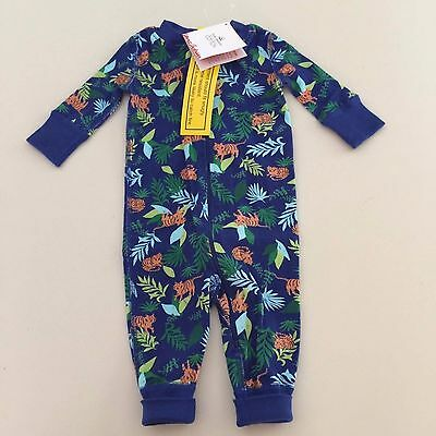 """HANNA ANDERSSON Baby Boy's """"JUNGLE"""" Pajama, Size 50 cm 0-3 Months. New!!"""