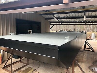 New 30x10x3 Steel Deck Barge, Console, Engine mount , Marine Construction