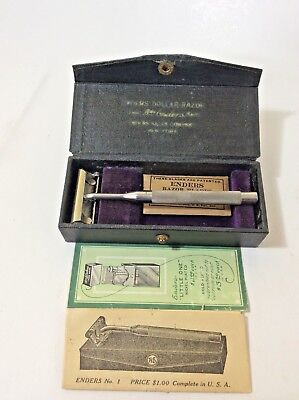 Vintage Collectible Enders Dollar Razor In Original Case Made in New York, USA