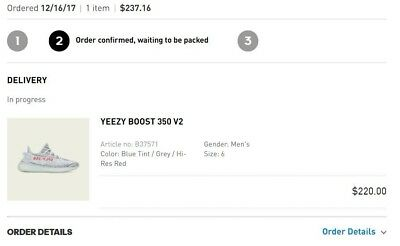 15bdbc6abaf YEEZY BOOST 350 v2 Blue Tint Size 6 Confirmed Order -  600.00