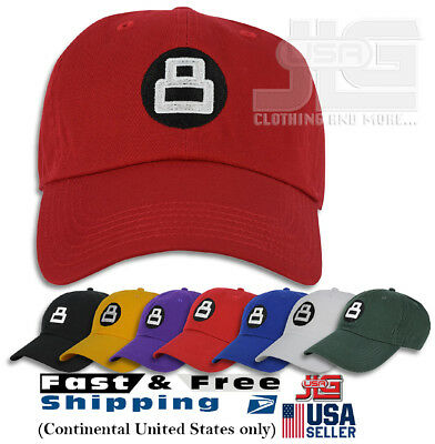 8 Ball Hat Dad Embroidered Cap Polo Style Baseball Cotton Curved Bill NEW dab5f9954844
