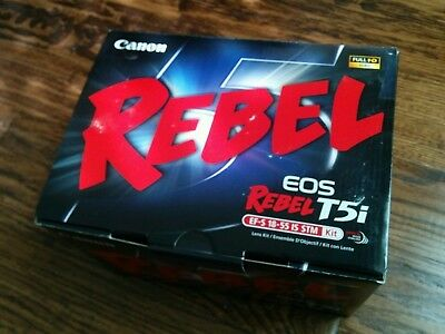 Canon EOS Rebel T5i 18.0 MP Digital SLR Camera Kit with EF-S 18-55mm -Brand New.