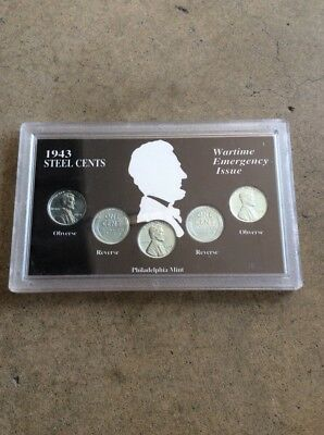 1943 Steel Cents Penny - Wartime Emergency Issue Coin Collection - Free Shipping