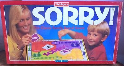 New Sorry Board Game By Waddingtons 1994 - Classic Family & Kids Fun - Sealed
