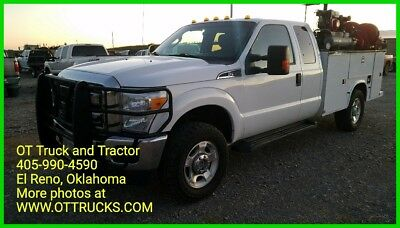 2014 Ford F-350 XLT 2014 Ford F-350 4wd Ext Cab Service Utility Lube Body Bed F350 6.2 Gas Lube N Go