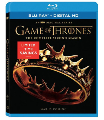 Game of Thrones: The Complete Second Season (Blu-ray Disc, Digital HD) Brand New