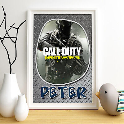 CALL OF DUTY Personalised Poster A4 Print Wall Art Custom Name ✔ Fast Delivery ✔