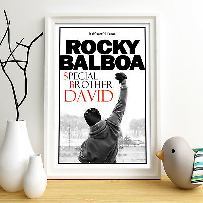 ROCKY BALBOA Personalised Poster A4 Print Wall Art Custom Name ✔ Fast Delivery ✔