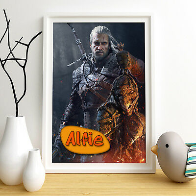 THE WITCHER Personalised Poster A4 Print Wall Art Custom Name ✔ Fast Delivery ✔