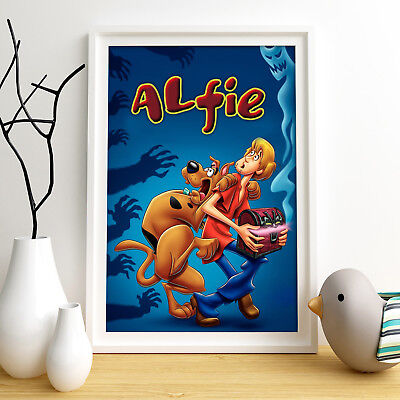 Scooby-Doo Personalised Poster A4 Print Wall Art Custom Name ✔ Fast Delivery ✔