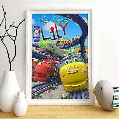 Chuggington Personalised Poster A4 Print Wall Art Custom Name ✔ Fast Delivery ✔
