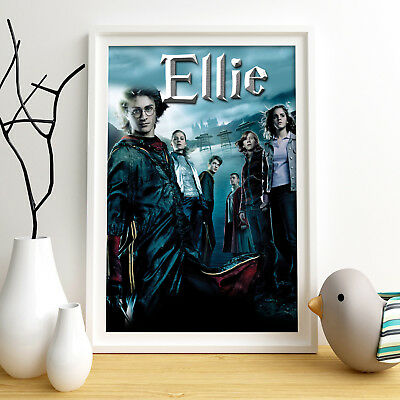 HARRY POTTER Personalised Poster A4 Print Wall Art Custom Name ✔ Fast Delivery ✔