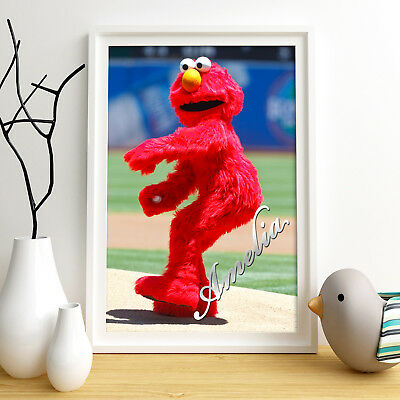 ELMO Personalised Poster A4 Print Wall Art Custom Name ✔ Fast Delivery ✔