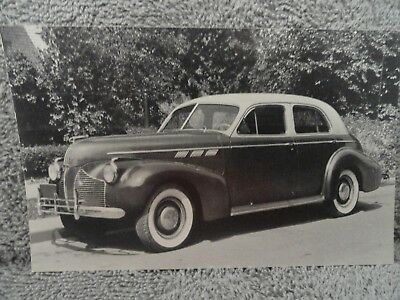 1940 Pontiac Used Car Salesman's Promotional Postcard NOS