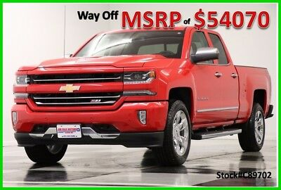 2018 Chevrolet Silverado 1500 2LZ Red Hot Double Cab Z71 Truck For Sale New Navigation Heated Cooled Seats Ext Extended Cab 17 2017 18 5.3L V8 Camera
