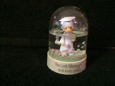 Precious Moments Graduate Snow Dome Waterball 1984 The Lord Bless and Keep You