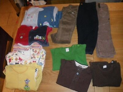 Small Bundle Of Boys  Clothing Ages 18-24 Months