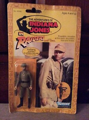 Kenner Raiders of the Lost Ark Indiana Jones in German Uniform sealed on card