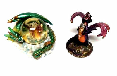 Dragon Ornament And Dragon/Wizard Water Ball - Set Of 2 Combo