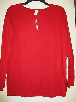 Old Navy New Maternity Red Sweater Tunic Top Size XS NWT $35.