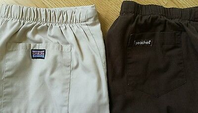 Scrub bottoms lot 2 Cherokee and peaches Size S and M