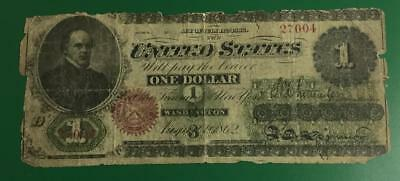 1862 $1 US LARGE SIZE Paper MOney Currency United States NOte! Currency