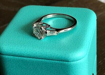 Solid 14K White Gold 2 Carat Enhanced Diamond Engagement Ring Round Cut 7
