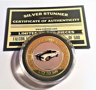 NEW XC Ford Cobra Colour Silver Stunner Coin with C.O.A. LTD 500