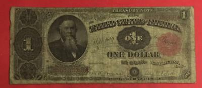 "1891 $1 US ""LARGE SIZE"" Paper Money Currency Stanton! VG! Old US Currency!"