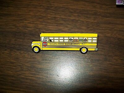 "South Park School Bus  2.5"" Metal Lapel Pin Comedy Central 1998 Vintage Htf"