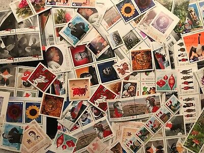 DISCOUNTED Canada Postage Lot $425 FV - 500 x Full Gum All 'P' Prepaid FREE Ship