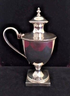 Antique English 925 Sterling Silver Richard Comyns Mustard Pot Jar England