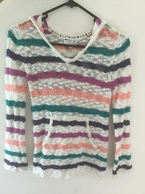 roxy girls size 8 hooded jumper
